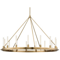 Hudson Valley 2758-AGB Chambers 15 Light 58 inch Aged Brass Pendant Ceiling Light