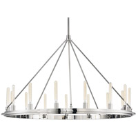 Hudson Valley 2758-PN Chambers 15 Light 58 inch Polished Nickel Pendant Ceiling Light
