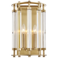 Hudson Valley 2802-AGB Haddon 2 Light 10 inch Aged Brass Wall Sconce Wall Light