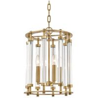 Hudson Valley 2812-AGB Haddon 4 Light 12 inch Aged Brass Pendant Ceiling Light