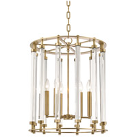 Hudson Valley 2818-AGB Haddon 6 Light 18 inch Aged Brass Pendant Ceiling Light