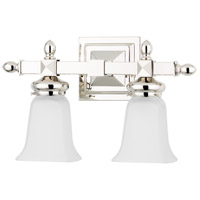 Hudson Valley 2822-PN Cumberland 2 Light 15 inch Polished Nickel Bath And Vanity Wall Light photo thumbnail