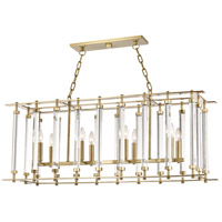 Hudson Valley 2842-AGB Haddon 8 Light 42 inch Aged Brass Island Light Ceiling Light