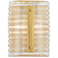Hudson Valley 2852-AGB Athens 2 Light Aged Brass Wall Sconce Wall Light
