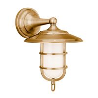 Rockford 1 Light 9 inch Aged Brass Wall Sconce Wall Light