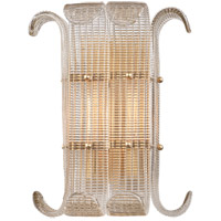 Brasher 2 Light 12 inch Aged Brass Wall Sconce Wall Light