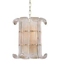 Hudson Valley 2904-AGB Brasher 4 Light 15 inch Aged Brass Chandelier Ceiling Light