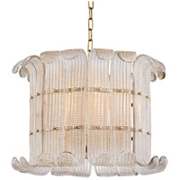 Hudson Valley 2908-AGB Brasher 8 Light 23 inch Aged Brass Chandelier Ceiling Light