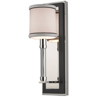 Hudson Valley Lighting Collins 1 Light Wall Sconce in Polished Nickel 2910-PN