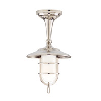 Hudson Valley Lighting Rockford 1 Light Semi Flush in Polished Nickel 2911-PN