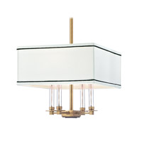 Hudson Valley Lighting Collins 4 Light Chandelier in Aged Brass 2914-AGB