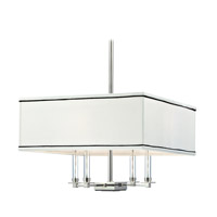 Hudson Valley 2919-PN Collins 4 Light 19 inch Polished Nickel Chandelier Ceiling Light photo thumbnail