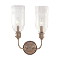 Hudson Valley Lighting Lafayette 2 Light Wall Sconce in Old Nickel 292-ON