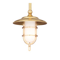 Hudson Valley Lighting Rockford 1 Light Pendant in Aged Brass 2921-AGB