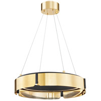 Hudson Valley 2922-AGB/BK Tribeca LED 21 inch Aged Brass/Black Chandelier Ceiling Light