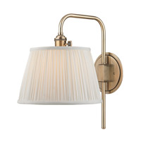Hudson Valley Lighting Fillmore 1 Light Wall Sconce in Aged Brass 2931-AGB