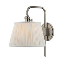 Hudson Valley Lighting Fillmore 1 Light Wall Sconce in Historic Nickel 2931-HN