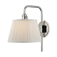 Hudson Valley Lighting Fillmore 1 Light Wall Sconce in Polished Nickel 2931-PN