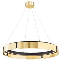 Hudson Valley 2933-AGB/BK Tribeca LED 33 inch Aged Brass/Black Chandelier Ceiling Light