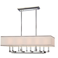 Hudson Valley 2938-PN Collins 10 Light 38 inch Polished Nickel Island Light Ceiling Light