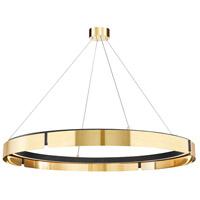 Hudson Valley 2949-AGB/BK Tribeca LED 49 inch Aged Brass/Black Chandelier Ceiling Light