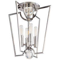 Hudson Valley Lighting Waterloo 4 Light Semi Flush in Polished Nickel 3004-PN