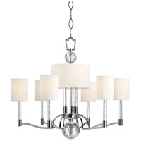 Hudson Valley Lighting Waterloo 9 Light Chandelier in Polished Nickel 3006-PN photo thumbnail