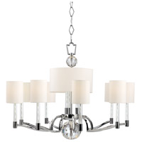 Hudson Valley 3009-PN Waterloo 12 Light 36 inch Polished Nickel Chandelier Ceiling Light