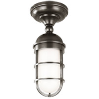 Groton 1 Light 6 inch Antique Nickel Semi Flush Ceiling Light