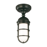 Groton 1 Light 6 inch Old Bronze Semi Flush Ceiling Light