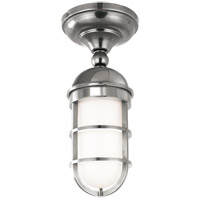 Hudson Valley 3011-PN Groton 1 Light 6 inch Polished Nickel Semi Flush Ceiling Light