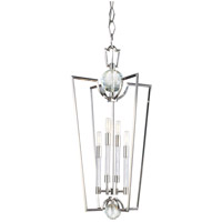 Hudson Valley 3017-PN Waterloo 4 Light 17 inch Polished Nickel Chandelier Ceiling Light