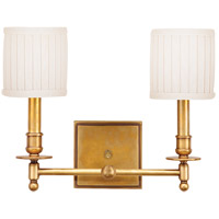 Hudson Valley 302-AGB Palmer 2 Light 14 inch Aged Brass Wall Sconce Wall Light