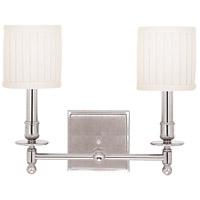 Hudson Valley 302-PN Palmer 2 Light 14 inch Polished Nickel Wall Sconce Wall Light photo thumbnail