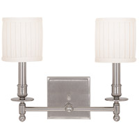 Hudson Valley 302-SN Palmer 2 Light 14 inch Satin Nickel Wall Sconce Wall Light photo thumbnail
