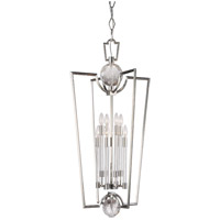 Hudson Valley Lighting Waterloo 8 Light Pendant in Polished Nickel 3022-PN