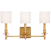 Hudson Valley 303-AGB Palmer 3 Light 20 inch Aged Brass Wall Sconce Wall Light photo thumbnail