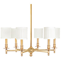 Hudson Valley 306-AGB Palmer 6 Light 25 inch Aged Brass Chandelier Ceiling Light