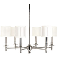 Hudson Valley 306-PN Palmer 6 Light 25 inch Polished Nickel Chandelier Ceiling Light