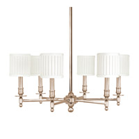 Hudson Valley Lighting Palmer 6 Light Chandelier in Satin Nickel 306-SN