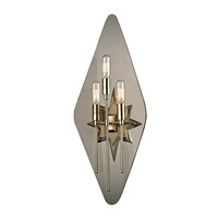 Westport 3 Light 10 inch Aged Brass Wall Sconce Wall Light in Smoke Glass