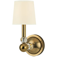 Hudson Valley Lighting Danville 1 Light Wall Sconce in Aged Brass with Eco Paper Shade 3100-AGB