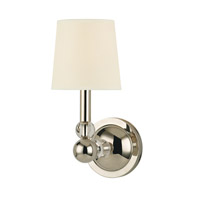 Hudson Valley Lighting Danville 1 Light Wall Sconce in Polished Nickel with Eco Paper Shade 3100-PN