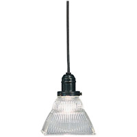 Hudson Valley Lighting Vintage 1 Light Pendant in Old Bronze with Ribbed Clear Glass Shade 3101-OB-45C