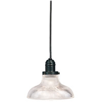 Hudson Valley Lighting Vintage 1 Light Pendant in Old Bronze with Ribbed Clear Glass Shade 3101-OB-R08