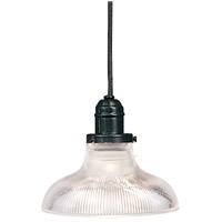 Hudson Valley Lighting Vintage 1 Light Pendant in Old Bronze with Ribbed Clear Glass Shade 3102-OB-R08