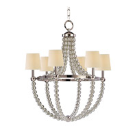 Danville 6 Light 30 inch Polished Nickel Chandelier Ceiling Light in Eco Paper