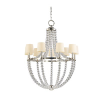 Danville 9 Light 36 inch Polished Nickel Chandelier Ceiling Light in Eco Paper