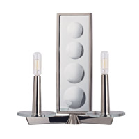 Ashley 2 Light 13 inch Polished Nickel Wall Sconce Wall Light