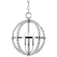Hudson Valley Lighting Danville 3 Light Pendant in Polished Nickel 3120-PN